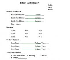 daily report sheet template infant daily sheet template fieldstation co