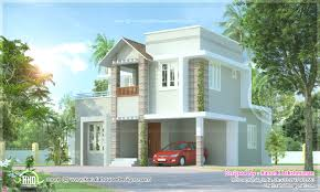 modern small houses 1300 sq ft kerala india home design with two floors home villa