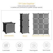 How To Customize A Closet For Improved Storage Capacity by Amazon Com Langria 12 Cube Closet Organizer Wardrobe Modular
