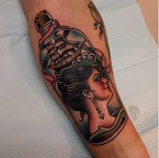 10 mysterious message in a bottle tattoos tattoodo