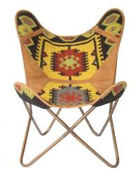 Leather Occasional Chairs Butterfly Chair Kilim Marigold U0026 Leather Occasional Chairs