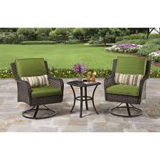 small patio table with two chairs better homes and gardens amelia cove 3 piece outdoor bistro set