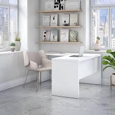 Kathy Ireland L Shaped Desk Office By Kathy Ireland Echo L Shaped Desk In White Free