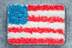 Flag Cakes American Flag Coconut Cake The First Year