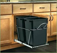 pull out trash can for 12 inch cabinet replacement trash can for pull out cabinet small size of rev a with