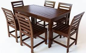 Outdoor Dining Area With No Chairs Outdoor Dining Set 6 Chairs 3d Model 20 Oth Fbx 3ds Obj