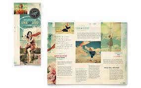 vintage clothing tri fold brochure template word u0026 publisher