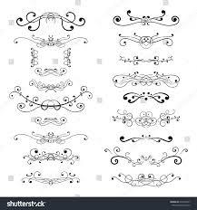 ornament decorations divider elements vector illustration stock