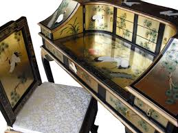 Oriental Secretary Desk by Gold Leaf Desk W Chair Oriental Chinese Furniture Amazon Co Uk
