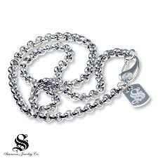 kay rolo chain necklace diamond accent stainless steel