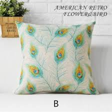 Decorative Pillows For Sofa by Peacock Sofa Cushion With Flower Garden Style Decorative Pillows