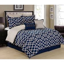 Blue And White Comforters Tie Dye Plaid Printed Reversible 12 Piece Comforter Set Free