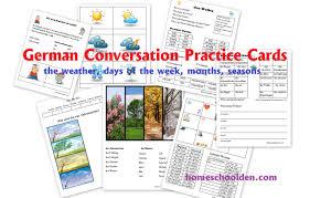 german conversation practice set weather days of the week