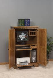 Oak Corner Computer Desk With Hutch by Furniture Computer Desk With Hutch Desk Armoire Solid Wood