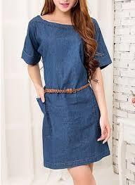 denim solid sleeveless knee length dresses airydress