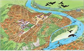 Marcus Amphitheater Map Roman Lugdunum The Precursor Of Modern Day Lyon France France