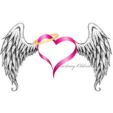 heart with angel wings clipart clipart kid clipartix