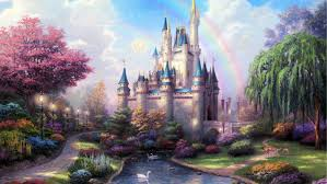 disney fairytale castle wall mural zoom