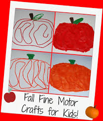 easy apple and pumpkin fine motor craft for kids wikki stix