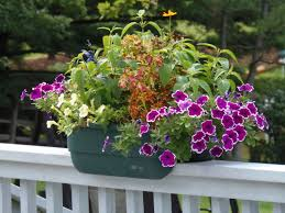stylish deck railing planter durable resin construction large