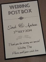 wishing box wedding handmade personalised vintage style portrait wedding post box