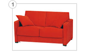 Orange Sofa Bed Malrox
