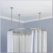 Ceiling Track Curtains Decor Curtain Rods Bed Bath And Beyond Bay Window Curtain Rod