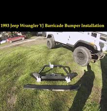 jeep aftermarket bumpers 1993 jeep wrangler yj barricade aftermarket front bumper