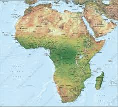algeria physical map digital physical map africa 1288 the world of maps