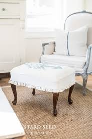chair and ottoman slipcover ottoman slipcover tutorial miss mustard seed