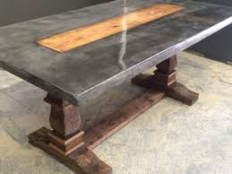 concrete wood table top wood and resin table top table designs