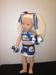 Colts Cheerleader Halloween Costume American 18 Doll Indianapolis Colts Cheerleader