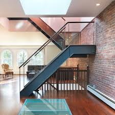 modern stair treads staircase modern with metal and glass stair
