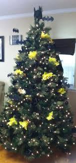 tree decorated like batman batman tree