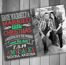 married christmas cards christmas save the date photo card engagement card printable