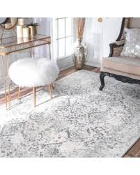 White Grey Rug Fall Into These Autumn Savings Nuloom Vintage Floral Ornament