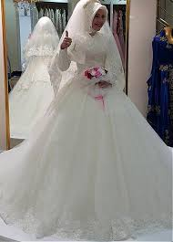 islamic wedding dresses buy discount gorgeous tulle high collar gown arabic islamic