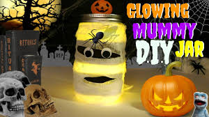 Mason Jar Halloween Lantern How To Make A Glowing Mummy In A Jar Do It Yourself Halloween