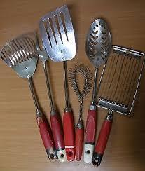 kitchen collectables vintage nutbrown skyline kitchen utensils with wooden handles