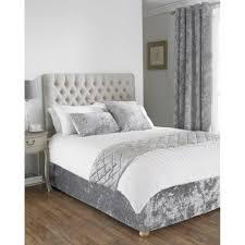 Crushed Velvet Bed Crushed Velvet Divan Bed Base Wrap In Silver Grey Silver Grey