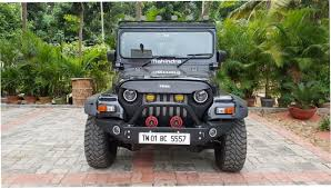 modified mahindra jeep fibre smith
