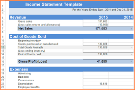 10 income statement template excel registration statement 2017