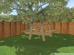 Build Your Own Round Wood Picnic Table by How To Build A Picnic Table 13 Steps With Pictures Wikihow