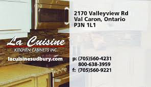 Kitchen Cabinets Ontario by La Cuisine Kitchen Cabinets Inc Val Caron On Canodex