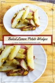 baked lemon potato wedges recipe lemon potatoes potato side