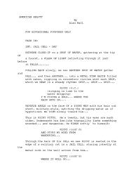 american beauty script pdf leisure