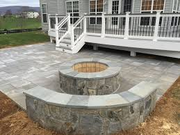 Backyard Brick Patio Design With Grill Station Seating Wall And by Best 25 Deck With Fire Pit Ideas On Pinterest Garden Fairy