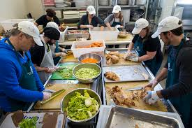 a labor of 2 500 thanksgiving meals at the pine