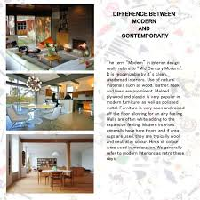 Difference Between Contemporary And Modern Interior Design Contemporary Style