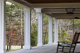 craftsman tapered columns square taper front porch column